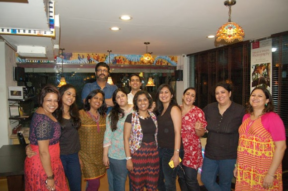 members of the New Delhi Blogger's Table